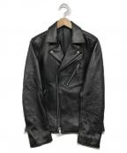 LIDnM(リドム)の古着「ダブルライダースジャケット」|ブラック