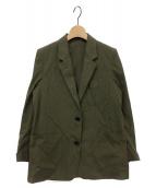 ()の古着「COTTON TWILL Semi Lined Blazer」|オリーブ
