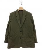 MARGARET HOWELL(マーガレットハウエル)の古着「COTTON TWILL Semi Lined Blazer」|オリーブ