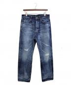CELINE()の古着「21SS 90'Sセルヴィッジミドルハイライズジーンズ」 インディゴ