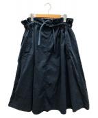()の古着「デザインワイドスカート」 ネイビー