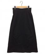 ATON(エイトン)の古着「ウールAラインマキシスカート」 ブラック