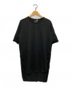 ATON(エイトン)の古着「SUVIN 60/2 ラウンドヘムTシャツ」 ブラック