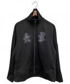 s'yte(サイト)の古着「刺繍トラックジャケット」 ブラック