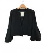 CHESTY(チェスティー)の古着「フレアスリーブジャケット」 ブラック