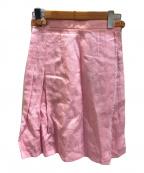 O'NEIL OF DUBLIN(オニールオブダブリン)の古着「リネンラップミディスカート」 ピンク