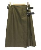 O'NEIL OF DUBLIN(オニールオブダブリン)の古着「サイドベルトウールラップスカート」