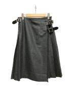 O'NEIL OF DUBLIN(オニールオブダブリン)の古着「サイドベルトラップウールスカート」