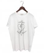 DIOR HOMME(ディオール オム)の古着「ローププリントTシャツ」 ホワイト