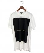 COMME des GARCONS HOMME PLUS(コムデギャルソン オムプリュス)の古着「×Zarina Hashmi プリントカットソー」 ホワイト