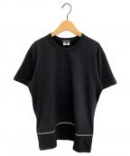 COMME des GARCONS HOMME PLUS(コムデギャルソン オムプリュス)の古着「ジップTシャツ」 ブラック