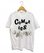 COMME des GARCONS()の古着「ボタン装飾Tシャツ」|ホワイト