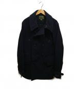 NIGEL CABOURN(ナイジェルケーボン)の古着「ミリタリーPコート」 ブラック