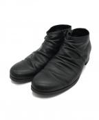 PADRONE(パドローネ)の古着「サイドジップショートブーツ」 ブラック
