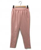 YOKO CHAN(ヨーコチャン)の古着「ギャザーストレートパンツ」 ピンク