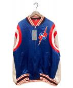 ()の古着「GGブレードボンバージャケット」|ブルー×アイボリー
