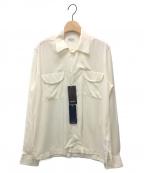 Bagutta(バグッタ)の古着「別注ソリッドオープンカラーシャツ」|アイボリー