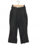 FRAMeWORK(フレームワーク)の古着「Philea クロップドフレアーパンツ」 ブラック