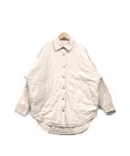()の古着「キルティングREVERSIBLEシャツジャケット」 アイボリー