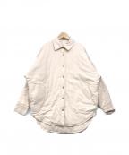 Sea Room lynn(シールームリン)の古着「キルティングREVERSIBLEシャツジャケット」|アイボリー
