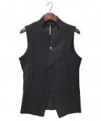 ripvanwinkle(リップヴァンウィンクル)の古着「ノッチドレスベスト」|ブラック