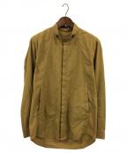 D.HYGEN(ディーハイゲン)の古着「80/2コットンブロードバンドカラーシャツ」 リーフイエロー
