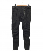 D.HYGEN(ディーハイゲン)の古着「Carbon Coating Curve Slim Pant」 ブラック