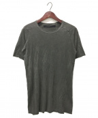 A.F ARTEFACT(エーエフ・アーティファクト)の古着「Dyed Over Lock Tee」|グレー