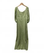 U by SPICK&SPAN(ユー バイ スピック&スパン)の古着「バックシャーリングドレス」 グリーン