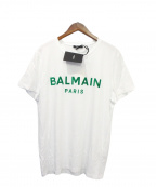 BALMAIN(バルマン)の古着「BALMAIN FLOCK TEE」 ホワイト×グリーン