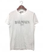 BALMAIN(バルマン)の古着「ロゴTシャツ」 ホワイト×ブラック