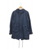 ()の古着「フィッシュテールトリクラメイトコート」|ネイビー