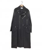UN3D.(アンスリード)の古着「コンビライダースコート」 ブラック