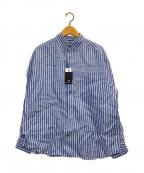 NIGEL CABOURN(ナイジェルケーボン)の古着「リネンボタンダウンシャツ」 ブルー