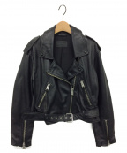 ALL SAINTS(オールセインツ)の古着「ラムレザージャケット」|ブラック