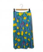 IENA LA BOUCLE(イエナ ラ ブークル)の古着「チューリッププリントパネルスカート」|スカイブルー