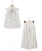 GRACE CLASS(グレースクラス)の古着「バードプリントボウタイブラウス&スカート」