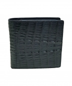 RODANIA(ロダニア)の古着「クロコダイルレザー2つ折り財布」|グリーン