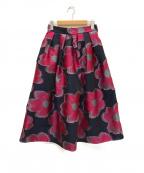 SHE TOKYO(シートーキョー)の古着「Anna Big flower ボリュームスカート」|ネイビー
