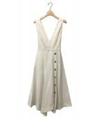 ()の古着「デザイン切り替えジャンパースカート」 ホワイト