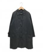 MHL(エムエイチエル)の古着「ダウンライナー付きステンカラーコート」|ブラック