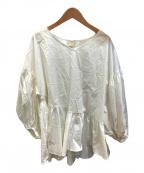 ELENDEEK(エレンディーク)の古着「バルーンスリーブブラウス」|ホワイト