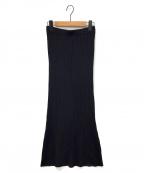 Whim Gazette(ウィムガゼット)の古着「ニットフィットスカート」 ブラック