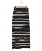 Spick and Span(スピックアンドスパン)の古着「MESH Iラインスカート」|ブラック