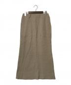 Whim Gazette(ウィムガゼット)の古着「ワッフルタイトスカート」 ベージュ