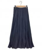 FRAMeWORK(フレームワーク)の古着「エアリープリーツスカート」 ネイビー
