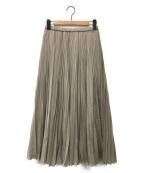 FRAMeWORK(フレームワーク)の古着「エアリープリーツスカート」 ベージュ