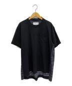 sacai(サカイ)の古着「20SS ゼブラ柄Tシャツ」|ブラック