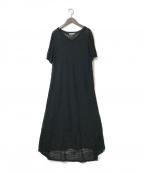 THREE DOTS(スリードッツ)の古着「シアースラブセータードレス」|ブラック