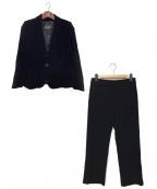 GIORGIO ARMANI(ジョルジョアルマーニ)の古着「ベルベットパンツスーツ」|ブラック